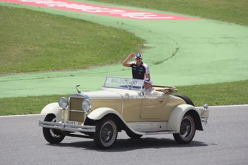 Pastor Maldonado in the Drivers' Parade at the 2013 Spanish Grand Prix