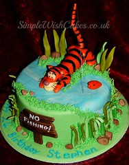 Tigger Cake (Simple Wish Cakes) Tags: birthday water cake vanilla tigger