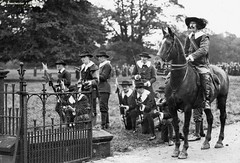 Wythenshawe hall, re-enactment of 1642 siege in 1925 (archivesplus) Tags: hall 1925 wythenshawe seige 1642 wythenshawehall m47632