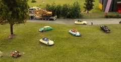 life in miniature (Harry -[ The Travel ]- Marmot) Tags: auto holland netherlands dutch car station train vintage rotterdam klein citroen ds nederland railway bahnhof mini railwaystation gras ho oude 010 trein nostalgie modeller miniatuur miniworld h0 modelbouw groenstrook modelbaan httpwwwminiworldrotterdamcom