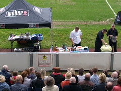 Chef Nigel Haworth at the Fantastic Food Show - looking down on the BBQ demo (Tony Worrall Foto) Tags: show uk england food cooking fun football fantastic stadium year sunday may cook 4th bbq lancashire blackburn event chef pitch celeb cooks 19th foodie lancs returned foodshow ewoodpark 2013 haworths nigelhaworthsfantasticfoodshow