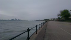 Liverpool from Vale Park promenade gates, New Brighton (20th May 13) (GreekVicar) Tags: liverpool river promenade newbrighton rivermersey