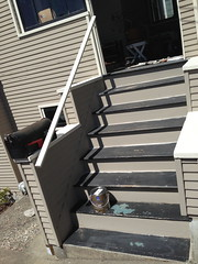 Ready to Paint (lisawiz) Tags: sand paint steps repair porch homeimprovement