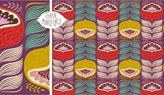 bigflower-violet-mini (Gaia Marfurt) Tags: flower illustration design pattern violet lila vectorial