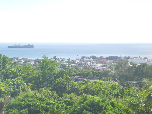 Garapan and ocean view