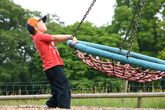 mmm...how high can we go ! (mag2003...) Tags: fun farm surrey swing half activities term godstone