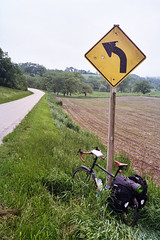 driftless touring (ais_t) Tags: bicycle wisconsin rural lost midwest map steel adventure madison revolution frame lancaster soma bloomington saga touring saddle brooks racks loaded cycles paniers driftless