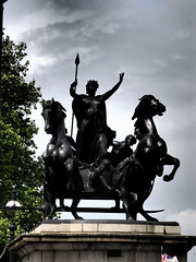 Boudica (shotsforyou) Tags: horses sculpture cloud tree monument statue spear boudica westminsterbridgelondon