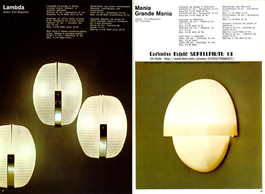 Lampada applique design vico magistretti modello eclissi artemide