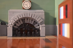 The Study - A Lego MOC by Zach Berg (ZachBergStudios) Tags: green fire fireplace place lego group study grocer moc