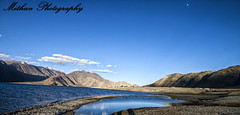 IMG_8044 copy (Mithun Kundu) Tags: show blue sky cloud india mountain lake ice la high desert altitude kashmir tso leh range capped ladakh jammu pangong khardung