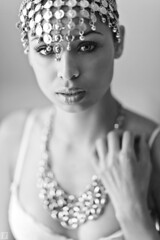 Reina (ericigonzalez) Tags: portrait woman face female photography eyes jewelry lips intimate headpiece