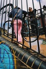 Bike and geometries, Regent's Canal, Hackney (fabiolug) Tags: street leica people color london film geometric lines bike bicycle metal canal kodak geometry candid voigtlander steps streetphotography bikes rangefinder wideangle regentscanal hackney portra m6 carrying 25mm eastlondon broadwaymarket leicam6 skopar candidphotography londonist filmphotography portra400 urbangeometry kodakportra400 kodakportra leicam6ttl voigtlander25mmf4 25mmcolorskopar voigtlander25mm biclyes leicam6ttl072 voigtlander25mmf4colorskopar believeinfilm voigtlander25mmcolorskoparf4