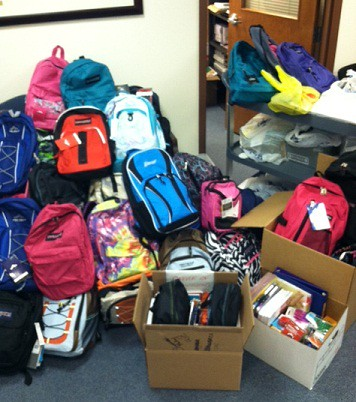 Donations from the New Castle campus, Wilson Graduate Center and the Brandywine and Middletown sites.