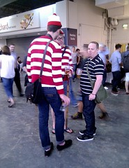 There He Is! (The Puzzler) Tags: walter glasses costume stripes hats valle ali specs holger spectacles fancydress waldo beerfestival camra willy volli whereswally valli hetti kensingtonolympia vili gbbf gile 2013 vallu greatbritishbeerfestival valdas   valdk