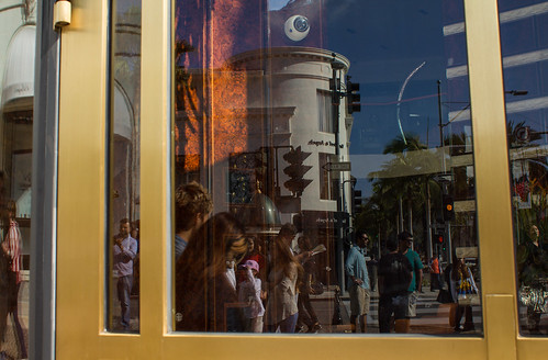 Rodeo reflections in Beverly Hills