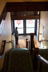 PopTech 2013 - Camden, ME (poptech) Tags: sunlight man standing waiting doors camden maine operahouse poptech 2013 thatchercook
