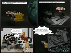 131109 Capture of Leia (--== Part 1/7 ==--) (Lost Trooper) Tags: trooper rebel star lego cartoon destroyer imperial corvette isd cr90 2013 tantiveiv