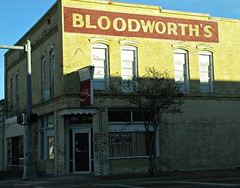 Bloodworth's (jimsawthat) Tags: reflection architecture shadows florida coke cocacola drugstore perry smalltown