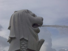 Merlion Singapore (Bootnecks) Tags: park sky singapore sands marinapark marinabay merlionpark singaporemerlion
