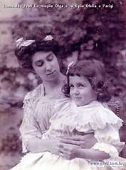 Romualdo Prati La moglie Olga e la figlia Ofelia a Parigi