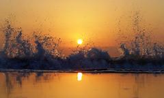 Solaris (Fotomondeo) Tags: sea españa sun sol valencia sunrise reflections mar spain playa alicante amanecer reflejos salidadelsol lx7 playadesanjuan lumixlx7 panasoniclumixlx7