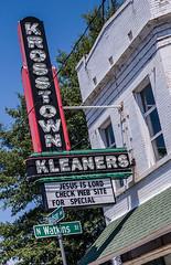 Check web site for Kleaners (Roadsidepeek) Tags: sign memphis tennessee cleaners roadtrip signage roadside verticallystackedletters roadsidepeekcom