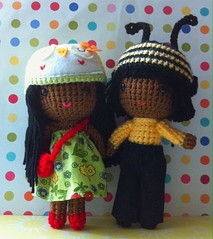 Bee hat boy and owl hat girl (my sweet dolls) Tags: brown yellow dolls skin handmade plush bee yarn kawaii etsy owlhat crochetdolls sweetdolls uploaded:by=flickrmobile flickriosapp:filter=nofilter