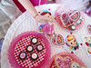 Handmade miniature box of Sweethearts. (JunqueChicDoll) Tags: pink red cookies fashion day candy barbie plate valentines sweethearts fr royalty diorama playscale
