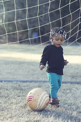 Soccer Baby (lensivew) Tags: winter baby sun hot net sports ball hair beads goal cool warm bright good african soccer great american