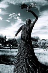 Falkland, wicker statue