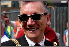 Liverpool's Lord Mayor (* RICHARD M (Over 5 million views)) Tags: street gay portrait celebrity liverpool portraits happy lordmayor mayor candid politics smiles shades portraiture politicians politician celebrities candids rayban happines dignitaries raybans merseyside darkglasses politico williamsonsquare gayguy capitalofculture dignitary europeancapitalofculture sunspecs brazilica gaymayor lordmayorofliverpool brazilicafestival gaylordmayor garrymillar brazilica2013 sungslasses