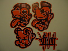 red slaps (.Trauma .) Tags: portugal graffiti stickers trade cartoons trauma t2 troca autocolantes