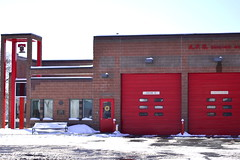Engine #10 (Marcy Leigh) Tags: red snow building firetruck tribute heroes february firehouse firefighter 2014 afd engine10