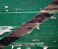 Behind The Green Door (Fragglehound) Tags: door wood green paint decay diagonal twitter