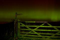 Aurora Borealis Gate (Scouse Steve) Tags: light vw painting stars aurora coniston northernlights auroraborealis thegreen nightssky