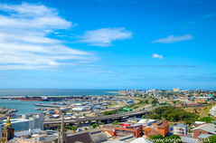 Port Elizabeth city view (AnnieWilcoxPhotography) Tags: africa city sea sky urban cloud texture nature ecology clouds port landscape southafrica photography nikon scenery skies elizabeth harbour landscaping pe environmentalism hdr highdynamicrange hdri ecosystem portelizabeth landscapephotography photomatix cityphotography photographytechnique donkinreserve d7000 elizabethdonkin dionkin sirrufanedonkin