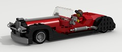 Streamliner From '30's (Tom.Netherton1) Tags: city classic beach digital vintage 1930s stream ray lego pov designer fast pebble legos streamlined lemans speedster racer roadster liner povray streamliner ldd lxf legocity