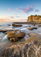 Terrigal 0039-2 (russell.bray) Tags: seascape rock clouds sunrise dawn waves australia nsw terrigal skillon