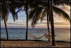 Cuba_2014_04_0177_IMG_2848 (_SG_) Tags: blue sunset holiday seascape reflection tree beach water stone strand palms boat wasser sonnenuntergang urlaub cuba palm insel steine hammock caribbean blau spiegelung ferien palme kuba hn
