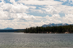 The Calm (wenzday01) Tags: park travel sky lake nature water clouds nationalpark nikon yellowstonenationalpark yellowstone wyoming nikkor wy yellowstonelake d90 nikond90 18105mmf3556gedafsvrdx