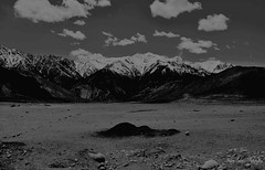 Sheets of empty canvas, untouched sheets of clay Were laid spread out before me as her body once did (Mahajan Tushar) Tags: travel bw india landscape leh ladakh