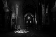 Light and silence (Soloross) Tags: life light italy man building art history love church beauty abbey look architecture canon photography monocromo donna italian italia alone loneliness quiet peace arte darkness heart image artistic earth ombra picture peaceful quadro holy chiesa finestra delight memory mind pace rays concept fotografia poems anima norhtern past emotions grandangolo antico candela amore architettura emptiness luce dolcezza biancoenero bellezza raggi passato colonna muri composizione absence pavimento immagine abbazia dolore intimo mattoni lampade assenza decori feeeling delicatezza