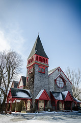 Elberon Memorial Church - Winter | 2015 - III (RGL_Photography) Tags: winter newjersey unitedstates steeple jerseyshore longbranch tiffanyglass churchsteeple louistiffany stanfordwhite americanarchitecture elberonmemorialchurch gothicstructure mayerbrothers nikon18105mmf3556vr nikond7000 mosesbtaylor catherinewilsontaylor hilborneroosevelt