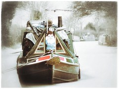 Its cold outside.....  Put another log on the stove. (Anologital) Tags: winter england snow cold ice canal northamptonshire 85mm zuiko omd em1 f20 braunston