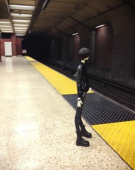 Waiting for the train (eixomoxie) Tags: train ball berkeley sexta mod doll goth bart creepy nightshade bjd chateau jointed uploaded:by=flickrmobile flickriosapp:filter=nofilter