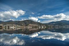 river reflections (Cardesson) Tags: clouds reflections tasmania derwentriver photomatix pentaxk10d