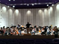 In rehearsal with Zlin Philharmonic Orchestra