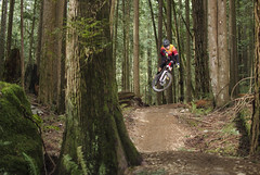 Expresso Air (Cam Pasternak) Tags: mountain canada bike nikon bc north january shore mtb expresso fromme norco d5100
