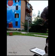 "Roma. Tor Marancia. Street art. ""Spettacolo - Rinnovamento - Maturit"" by Gaia drawn by Marco Setti (R come Rit@) Tags: street urban italy streetart streets rome roma art wall graffiti sketch italia arte streetphotography wallart sketchbook urbanart walls graff gaia grafica spettacolo graffitiart maturit rinnovamento bigcitylife tormarancia streetartitaly streetartrome streetartphotography streetartroma romestreetart ritarestifo bigcitylifeproject urbanartrome marcosetti spettacolorinnovamentomaturit"